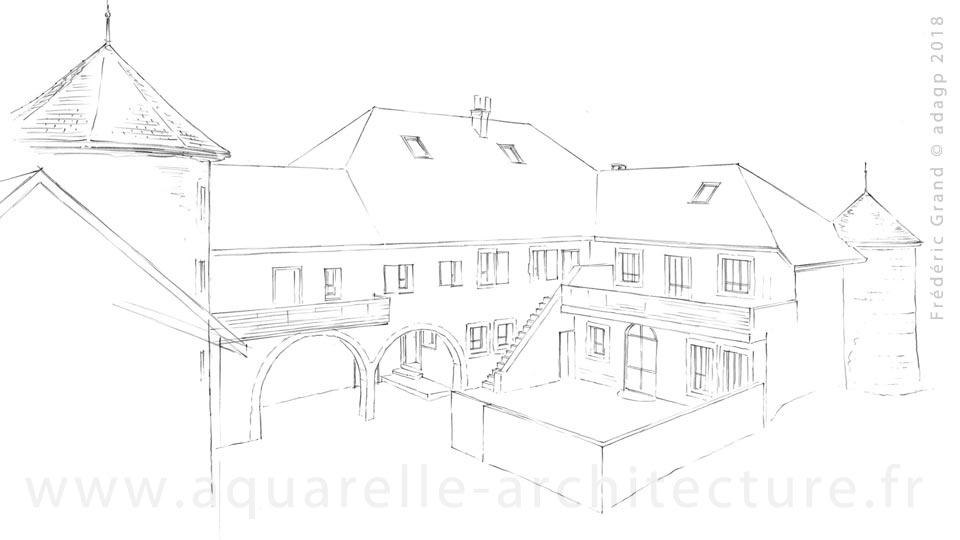 Rénovation d'une partie du château (XIII<sup>e</sup> s.) - SEYNOD (74)