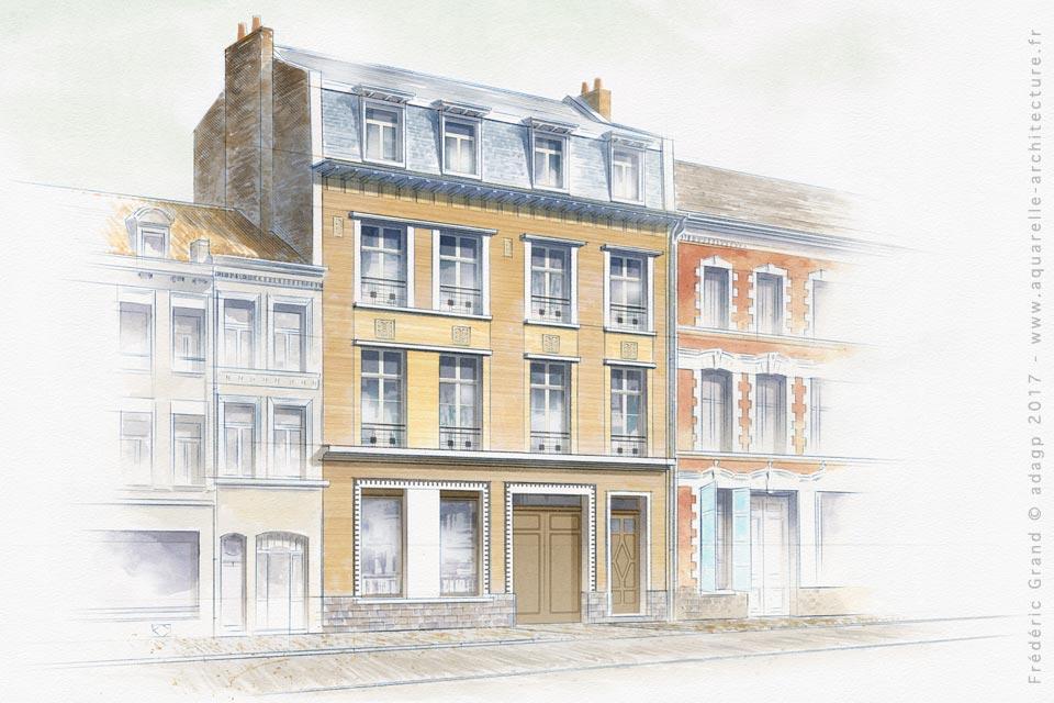 Réaménagement de l'immeuble Jardanel (XX<sup>e</sup> s.) - LILLE (59)