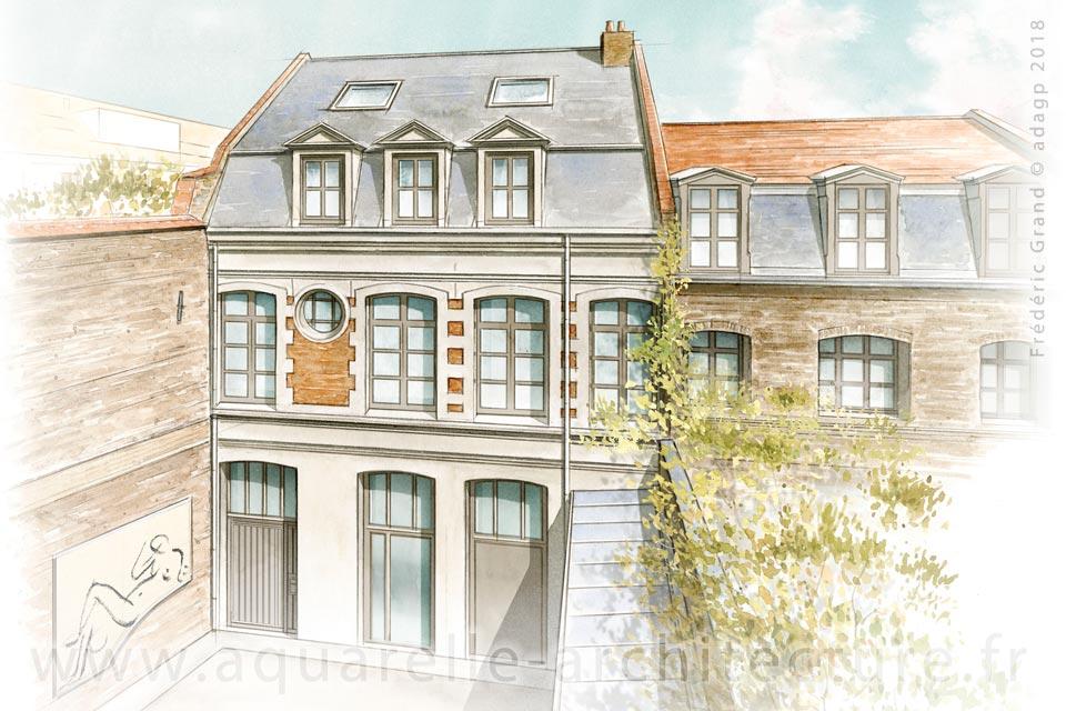 """Réaménagement de l'immeuble """"Villa des Arts"""" (XX<sup>e</sup> s.) - LILLE (59)"""