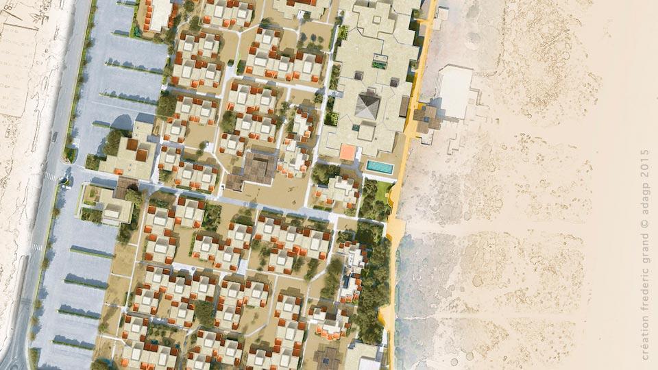 Histoire et Patrimoine immobilier NDA Architectes rénovation résidence les carrats Port Leucate