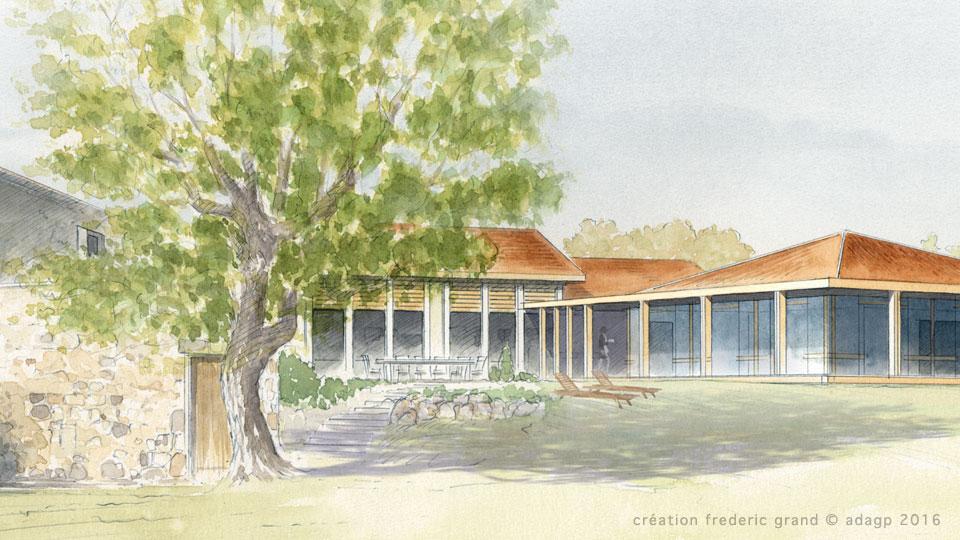 particulier agrandissement maison H. Durnerin Architectes Saint-Cyr-Les-Vignes