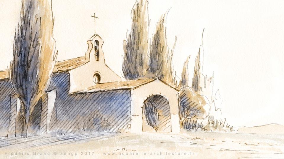 Représentation de l'Architecture Romane du XII<sup>e</sup> siècle - EYGALIERES (13)