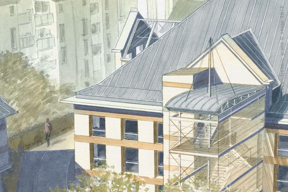 ville de Voiron concours Paillasson Architectes maison des jeunes Voiron